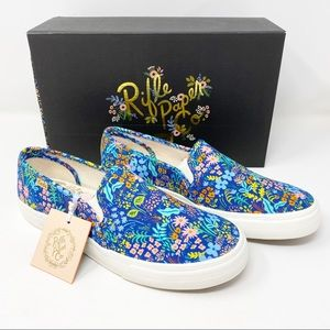 Keds x Rifle Paper Co Blue Floral Sneakers 8